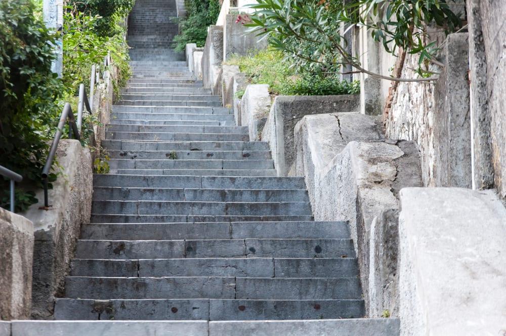 Unprotected Stairways